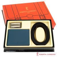 【ROBERTA 諾貝達】二件式皮件禮盒-皮夾+皮帶-9