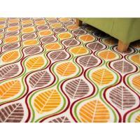 范登伯格  法蘭絨★超細柔折疊地毯-樹葉-100x140cm