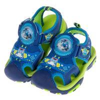 《布布童鞋》POLI救援小英雄波力藍色兒童電燈護趾涼鞋(15~19公分) [ B9D106B ]