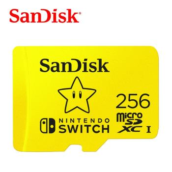SanDisk Nintendo Switch™ 專用記憶卡256GB (A1 UHS-I 100mbps)  [公司貨]