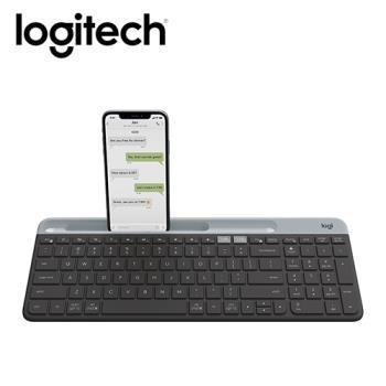 【Logitech 羅技】K580 超薄跨平台藍牙鍵盤 石墨灰