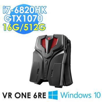 msi微星 VR ONE 6RE-001TW背包PC(i7-6820HK/16G/512G SSD/GTX1070-8G/WIN10)