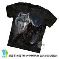 摩達客-美國進口The Mountain 星光雙狼 純棉環保短袖T恤