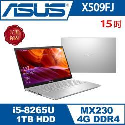 ASUSè¯ç¢ X509FJ-0131S8265U 輕薄筆電 冰河銀 15吋/i5-8265U/4G/1T/MX230/W10