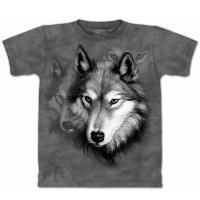 【摩達客】美國進口The Mountain 野狼像 純棉環保短袖T恤