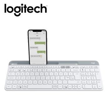 【Logitech 羅技】K580 超薄跨平台藍牙鍵盤 珍珠白 【贈萬用柔濕巾20抽】