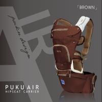 PUKU藍色企鵝 AIR機能腰凳型1+1揹巾-巧克力