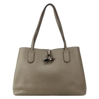 LONGCHAMP ROSEAU ESSENTIAL 竹節托特包(中/灰)