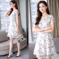 韓國K.W. (預購) 清涼舒適優雅繡花洋裝