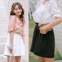 韓國K.W. (預購) 美學限定夏日漫遊抽繩百搭高腰短褲