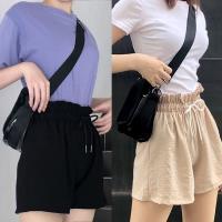 韓國K.W. (預購) 爆款不斷英倫學院簡潔時尚束帶短褲