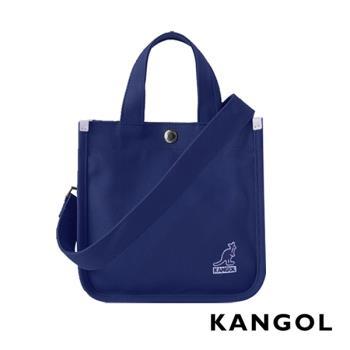 KANGOL 韓版極簡玩色-MINI帆布斜背小方包-深藍 AKG1215