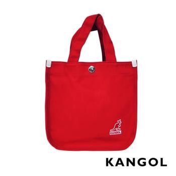 KANGOL 韓版極簡玩色-MINI帆布斜背小方包-棗紅 AKG1215