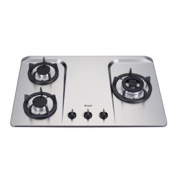 (全省安裝)林內三口檯面爐不鏽鋼鑄鐵爐架瓦斯爐RB-H301S