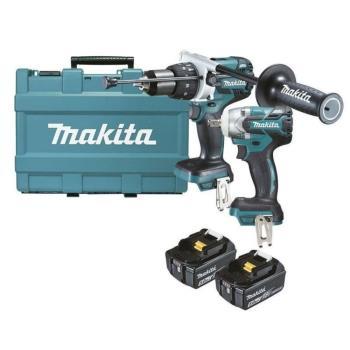 MAKITA牧田DLX2185GX1 無刷雙機組 DTW285套筒板手+DHP481電鑽