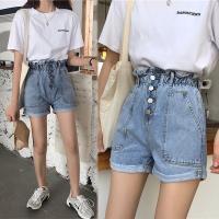 韓國K.W. (預購) 追加款原宿風寬鬆顯瘦牛仔短褲