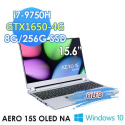 GIGABYTE 技嘉 AERO 15S OLED NA 15.6吋電競筆電(i7-9750H/8G/256G SSD/GTX1650-4G)