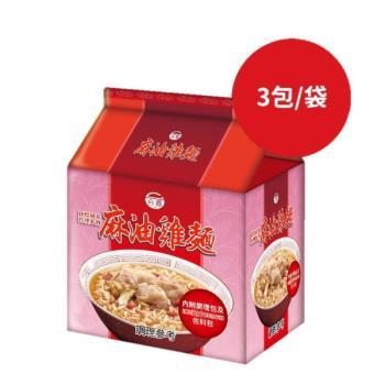 台酒TTL 紅標米酒麻油雞袋麵一袋 (3入/袋)