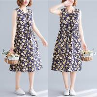 韓國K.W. (預購) 時尚潮流玩美碎花吊帶洋裝