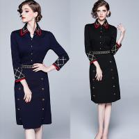 KEITH-WILL歐風 (預購) 時尚潮流OL時髦復古刺繡娃娃領洋裝