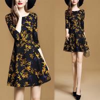 KEITH-WILL歐風 (預購) 歐洲站輕熟舒心時尚印花洋裝