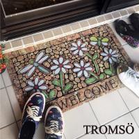 TROMSO-戶外植絨橡膠厚實刮泥地墊_大45x75cm 春日花語