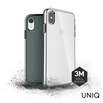 UNIQ Clarion iPhone XR 軍規認證3米雙料透明防摔殼-透明
