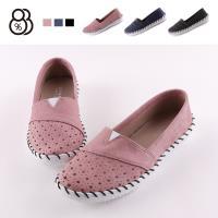 【88%】休閒鞋-MIT台灣製 皮質星星洞洞鞋面 舒適平底休閒鞋 懶人鞋 樂福鞋