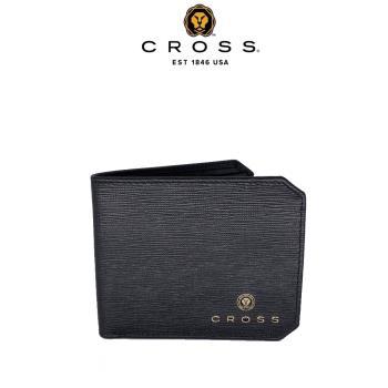 [美國百年精品 CROSS] 限量2.5折 頂級NAPPA小牛皮8卡十字紋男用皮夾邦尼系列 福利品特價(99%新 專櫃展示品)
