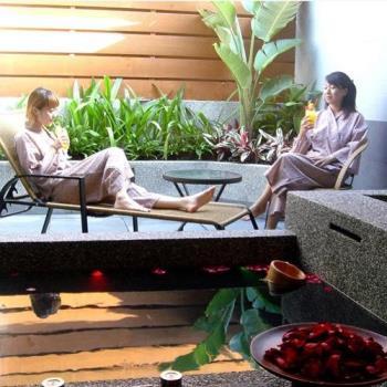 冬季旅展-金山唯一八煙溫泉會館  雙人鴛鴦湯屋乙間(送溫泉魚泡腳乙次)-電子票券