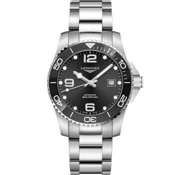 LONGINES 浪鬼 征服者陶瓷框潛水機械錶(L37814566)黑/41mm