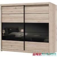 品味居 法斯 時尚7.1尺木紋推門衣櫃/收納櫃(三抽屜+吊衣桿+拉合式層架)