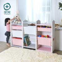 +O家窩 伊格玩具直取收納三櫃組(6大2小收納箱)-DIY(2色可選)