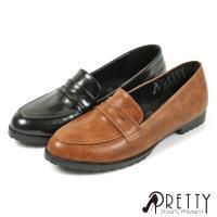 Pretty 簡約直套式尖頭平底樂福鞋/ 女學生鞋BA-2M950