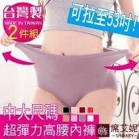 席艾妮 SHIANEY  台灣製 素面超加大彈力纖維內褲 2件組