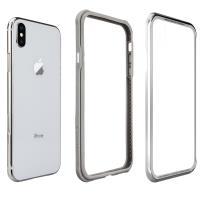 Switcheasy iGlass鋁合金玻璃背蓋+TPU邊框系列玻璃手機殼  for iPhone Xs 5.8 銀色