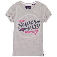 Superdry Tokyo 7 閃亮 T 恤(淺雪灰色)