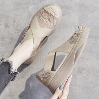 【WS】現+預 厚底蕾絲交叉透氣休閒鞋(休閒鞋 涼鞋)