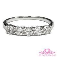 【AS EVER DIAMOND】女王的璀璨人生  1.0克拉鑽石線戒 尊榮典藏