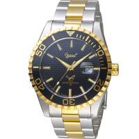 Ogival 黑水鬼 夜鷹氚氣燈管潛水型腕錶(3985TGSK)雙色/43mm