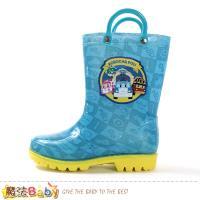 魔法Baby 男童雨鞋 POLI授權正版波力款長筒雨鞋~sa91606