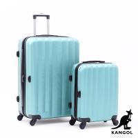 DF travel - 英國袋鼠海岸線系列ABS硬殼拉鍊20+28吋兩件組行李箱-共4色