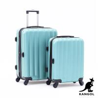 DF travel - 英國袋鼠海岸線系列ABS硬殼拉鍊20+24吋兩件組行李箱-共4色