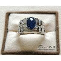 【Maven 行家珠寶】頂級天然 藍寶石 2.81克拉 簡約寬版設計款 白K金 鑽石 戒指