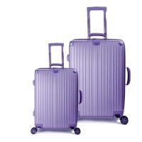 DF travel - 升級版20+28吋描繪足跡環遊全球硬殼紋行李箱-共5色