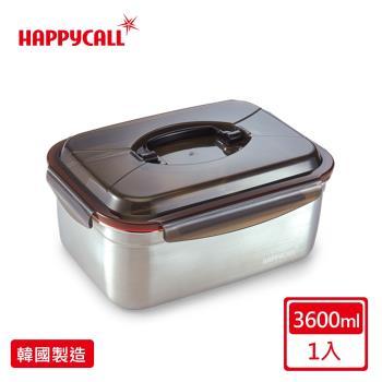 【韓國HAPPYCALL】韓國製厚質304不銹鋼保鮮盒(單把手3.6公升)