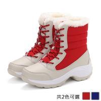 Alice 東森獨家百搭首賣防潑水加絨厚底健走雪靴