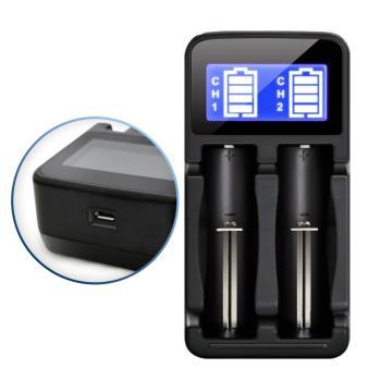Aisure愛秀王 LCD-18650 液晶雙槽/鋰電池充電器 三號四號充電式電池可充