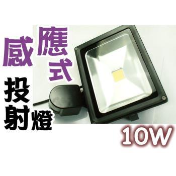 LED 紅外線 感應式 投射燈 10W 110-220V 全電壓 戶外燈  庭院燈具