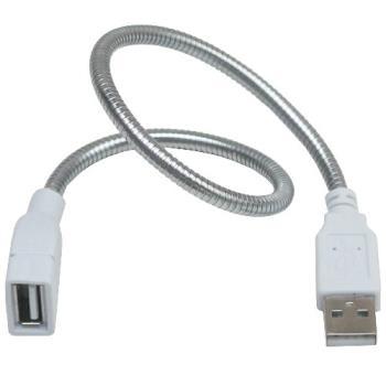 月陽28cm金屬蛇頸USB充電電源延長線非傳輸線(SL28)